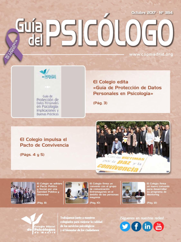 Guía del Psicólogo mes de Octubre 2017 by Colegio Oficial de ...