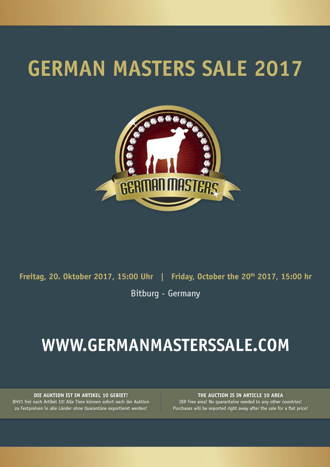 German Masters Sale 2017 by Arjan van der Vlis - issuu