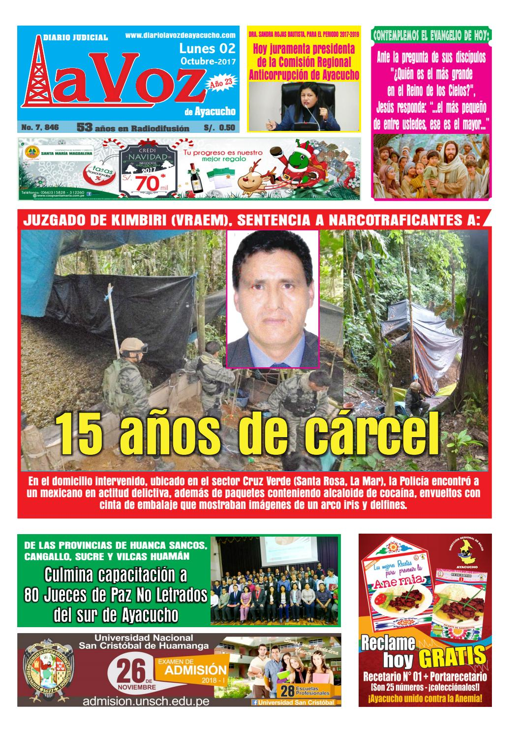 Edicion J 7772 Jueves 20 Julio 2017 By Diario La Voz De Ayacucho  # Muebles Ludena Chimbote