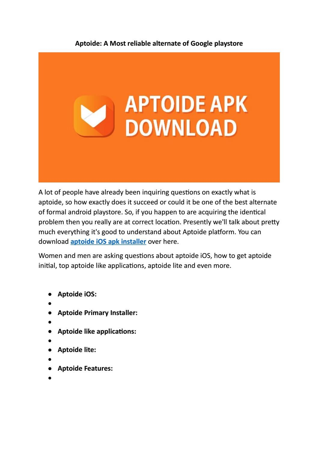 Aptoide: Everything You need to know about the App by