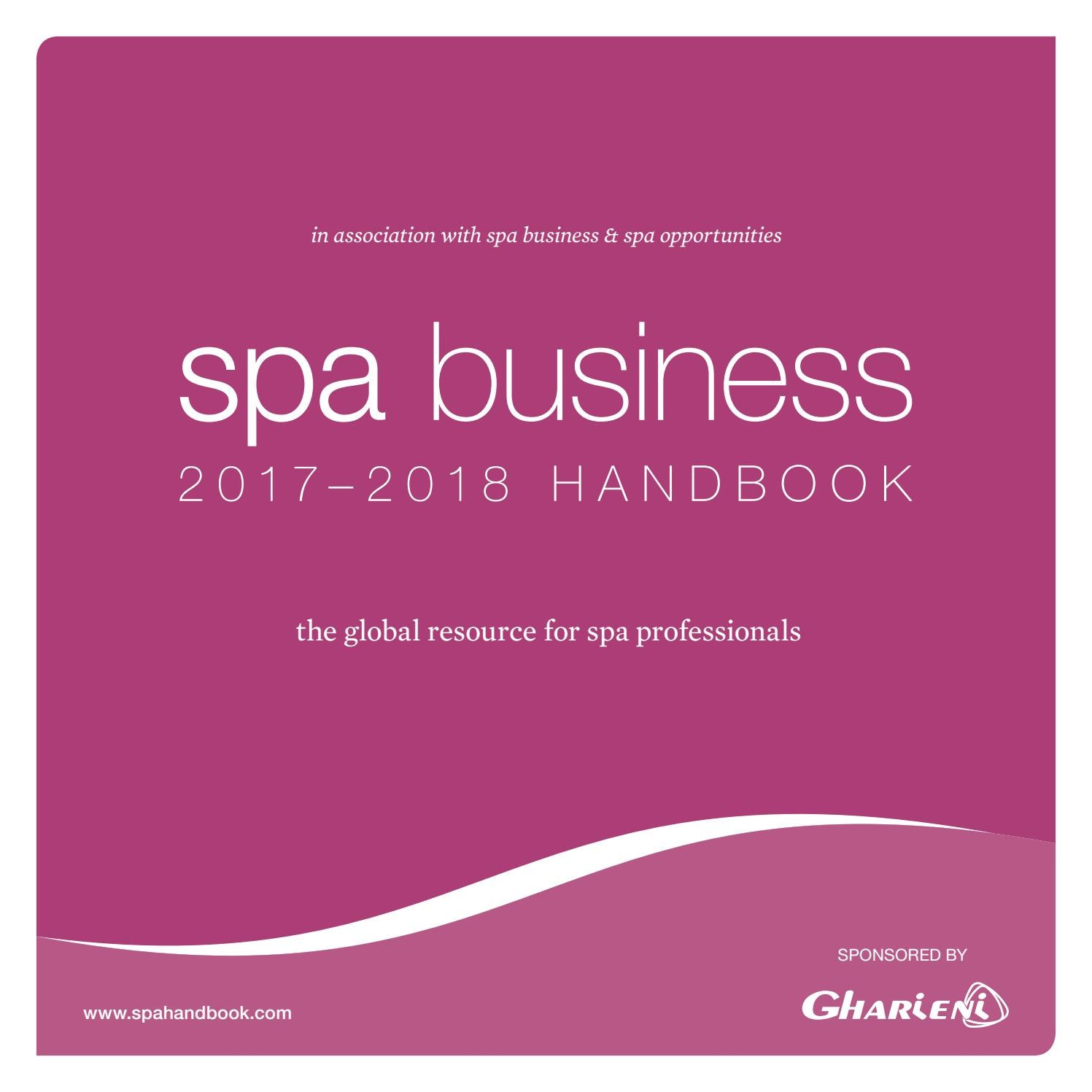 Spa Business Handbook 2017 - 2018 by Leisure Media - issuu