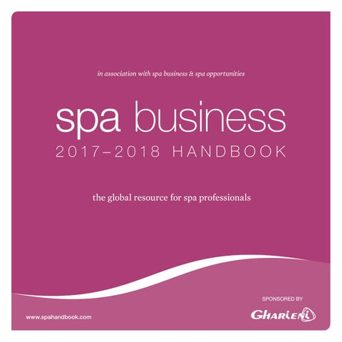 98da44a8b Spa Business Handbook 2017 - 2018 by Leisure Media - issuu