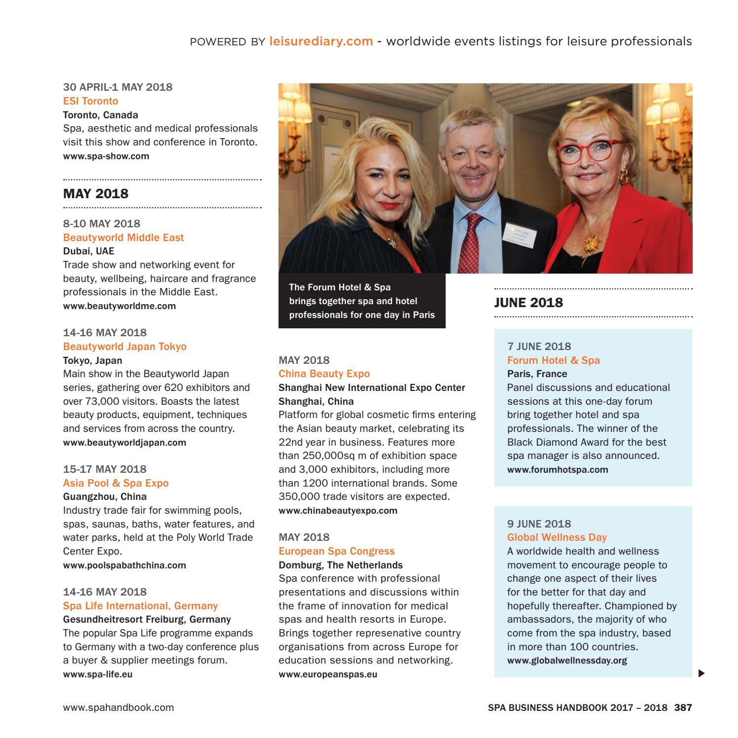 Spa Business Handbook 2017 - 2018