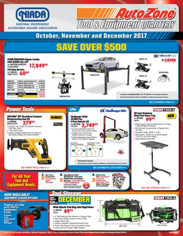 Autozone Tool & Equipment Catalog q4 17 by NIADA - issuu