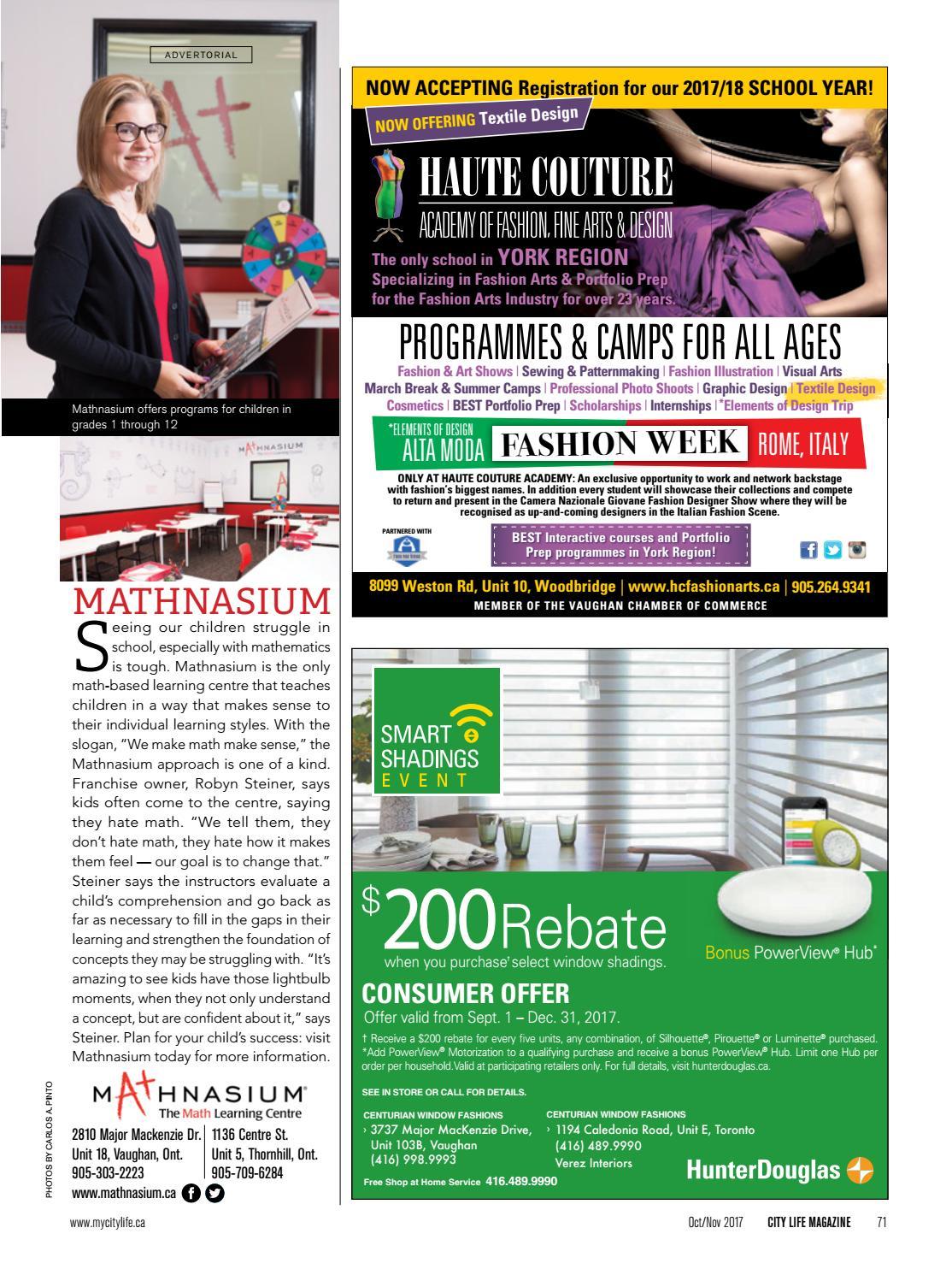City Life Magazine October November 2017 By Dolce Media Group Issuu