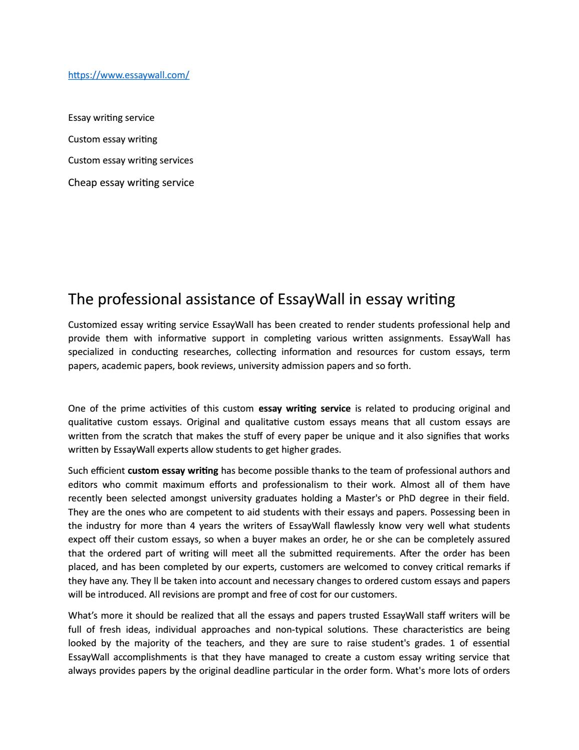 the professional assistance of essaywall in essay writing by  the professional assistance of essaywall in essay writing by frederic sealey issuu
