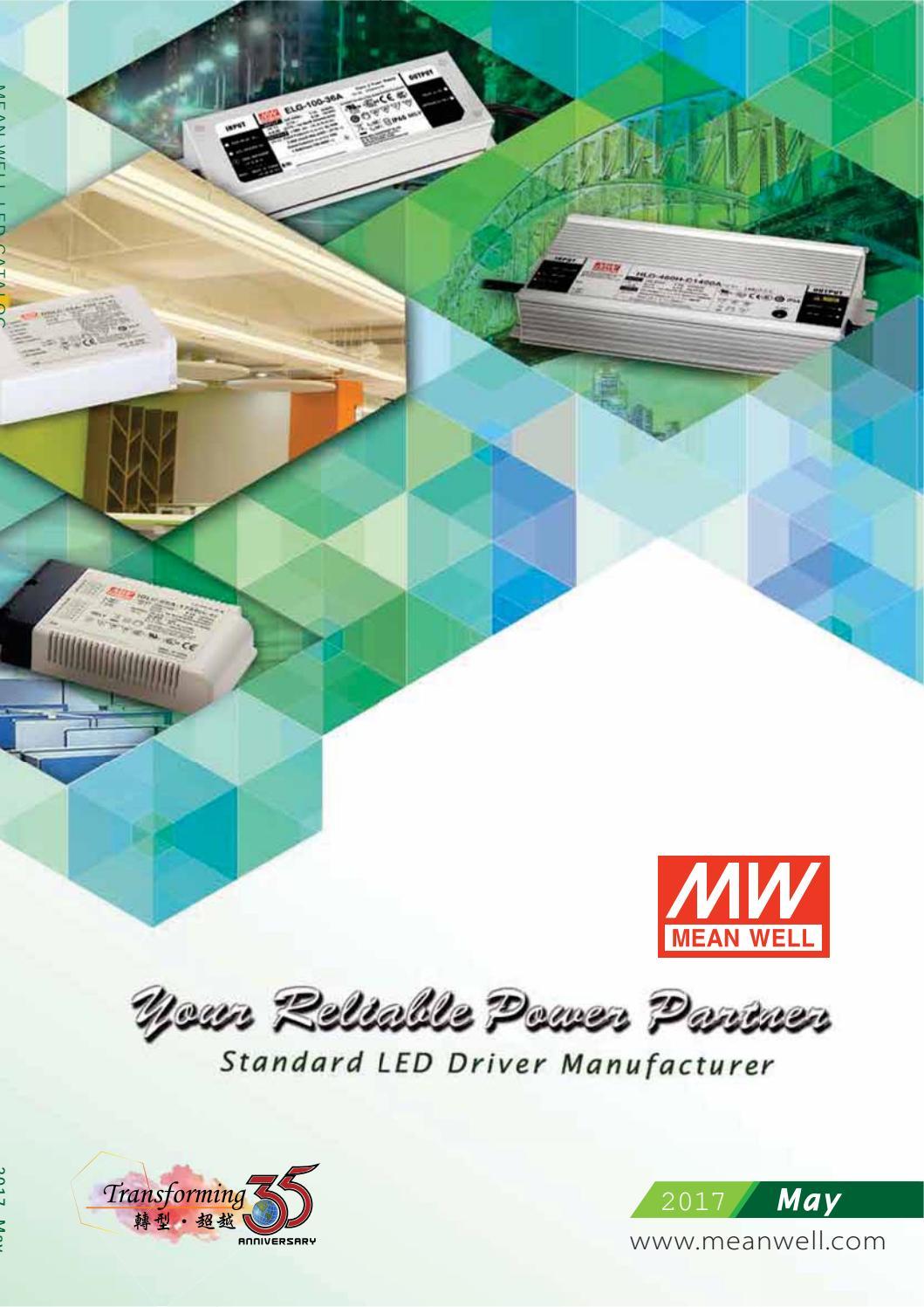 25 Watt 25W Mean Well APC-25-500 C.C IP42 LED Driver // Power Supply 500mA