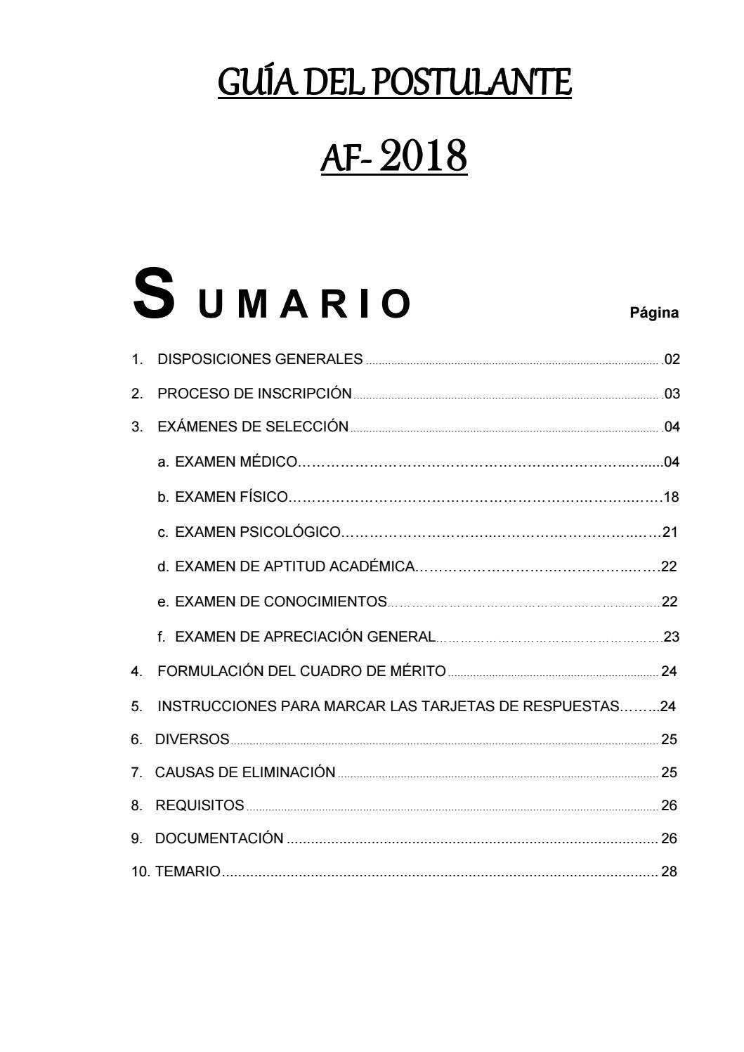Guía del Postulante Emch 2018 by Escuela Militar de Chorrillos ...