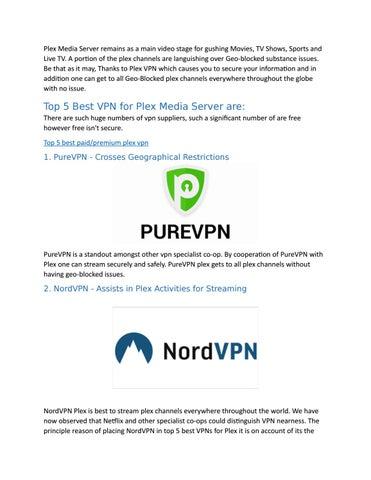 Nordvpn plex server