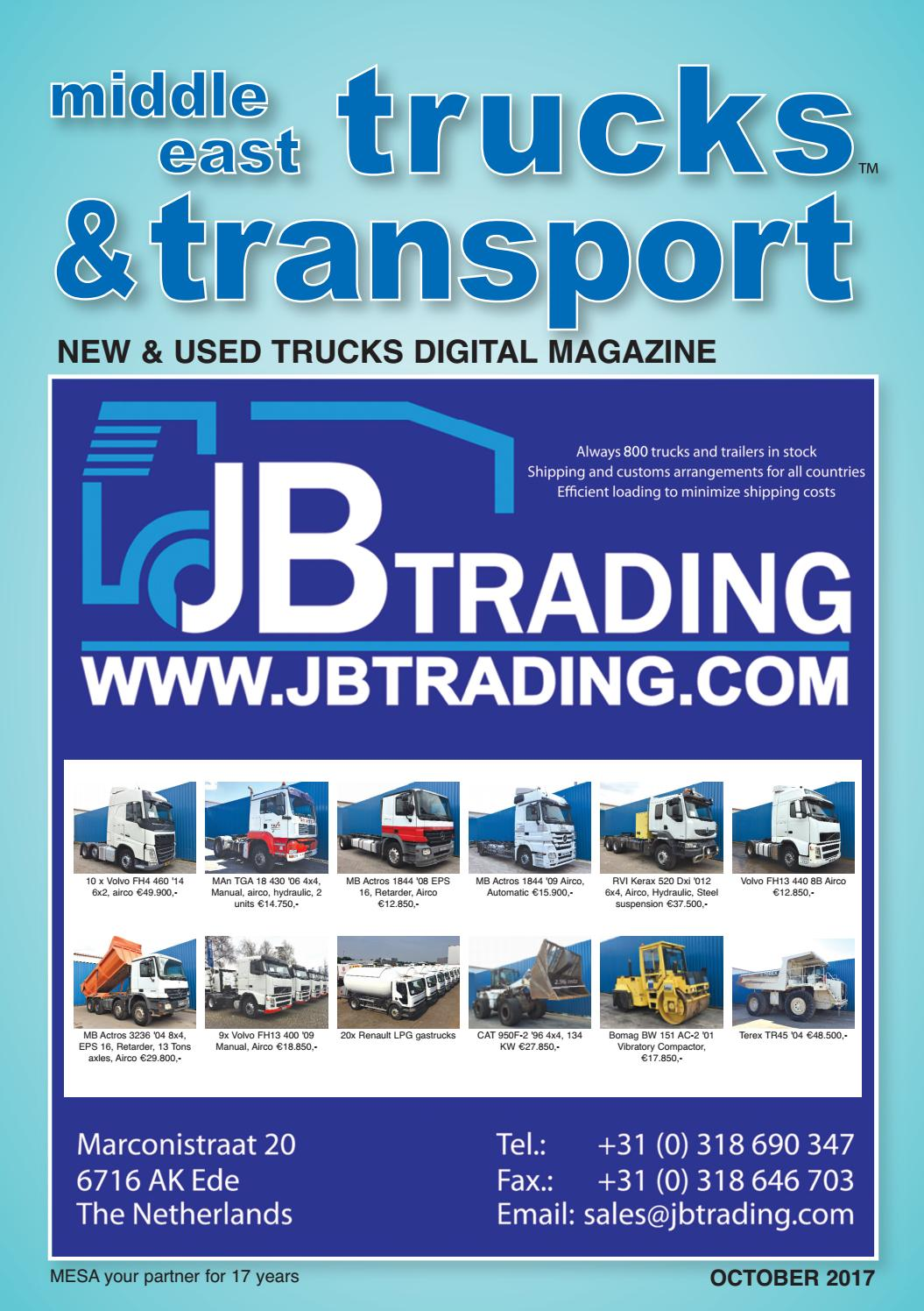 middle east trucks   transport october 2017 edition by middle east trucks   transport issuu 1997 Volvo 850 1995 Volvo 850