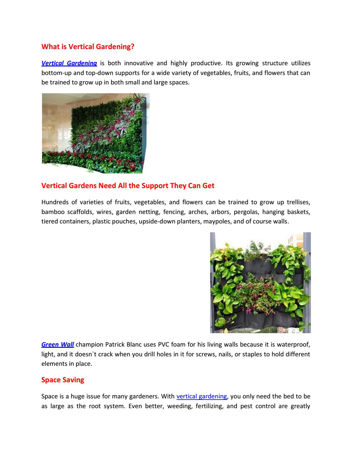 Vertical Garden Planters >> Vertical Garden Planters By Gover Horticulture Issuu