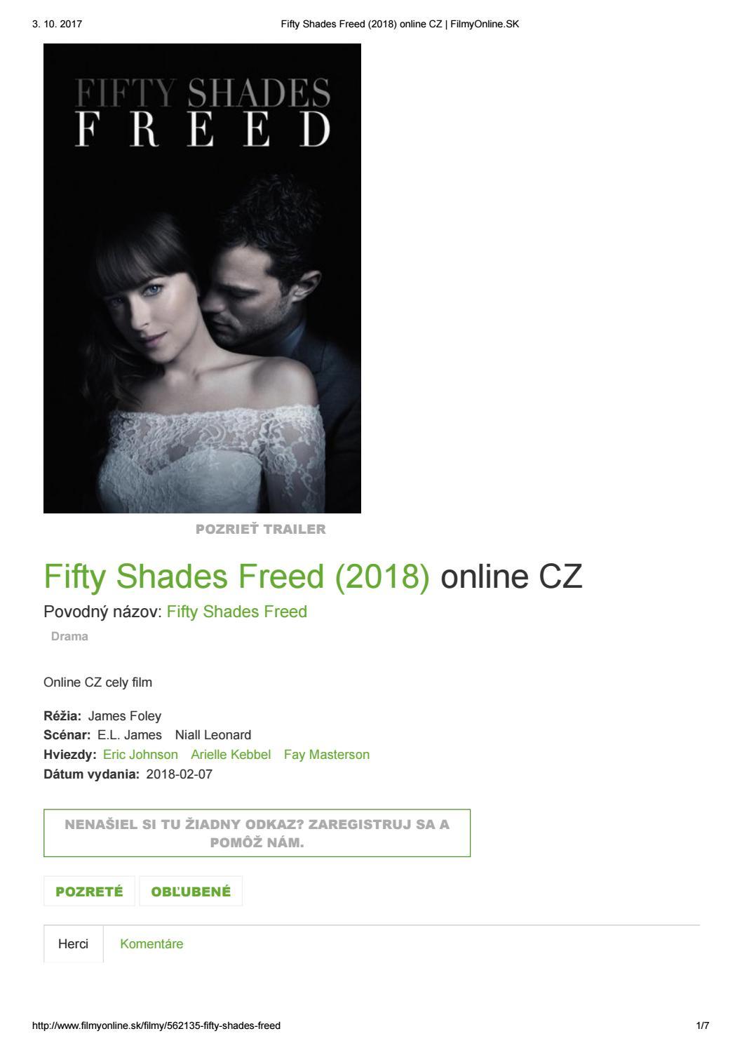 Fifty Shades Freed 2018 Online Cz Www Filmyonline Sk By Andrea Skorova Issuu