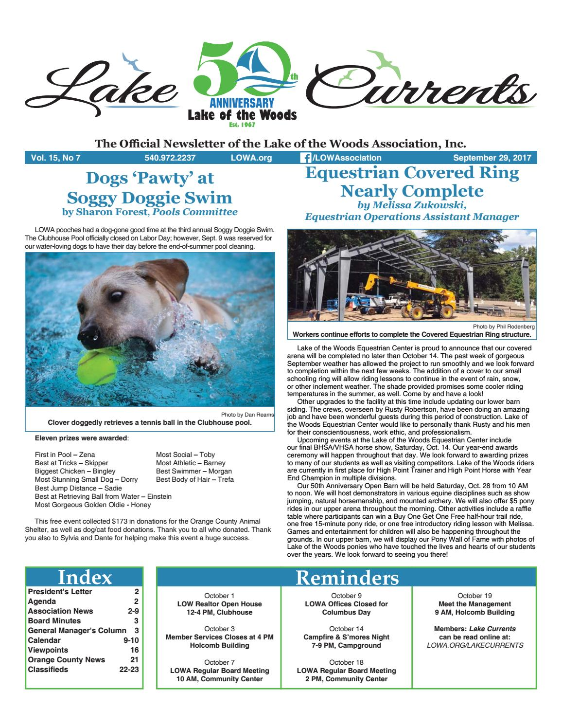 Lake Currents 09 29 2017 By Lake Of The Woods Association Issuu
