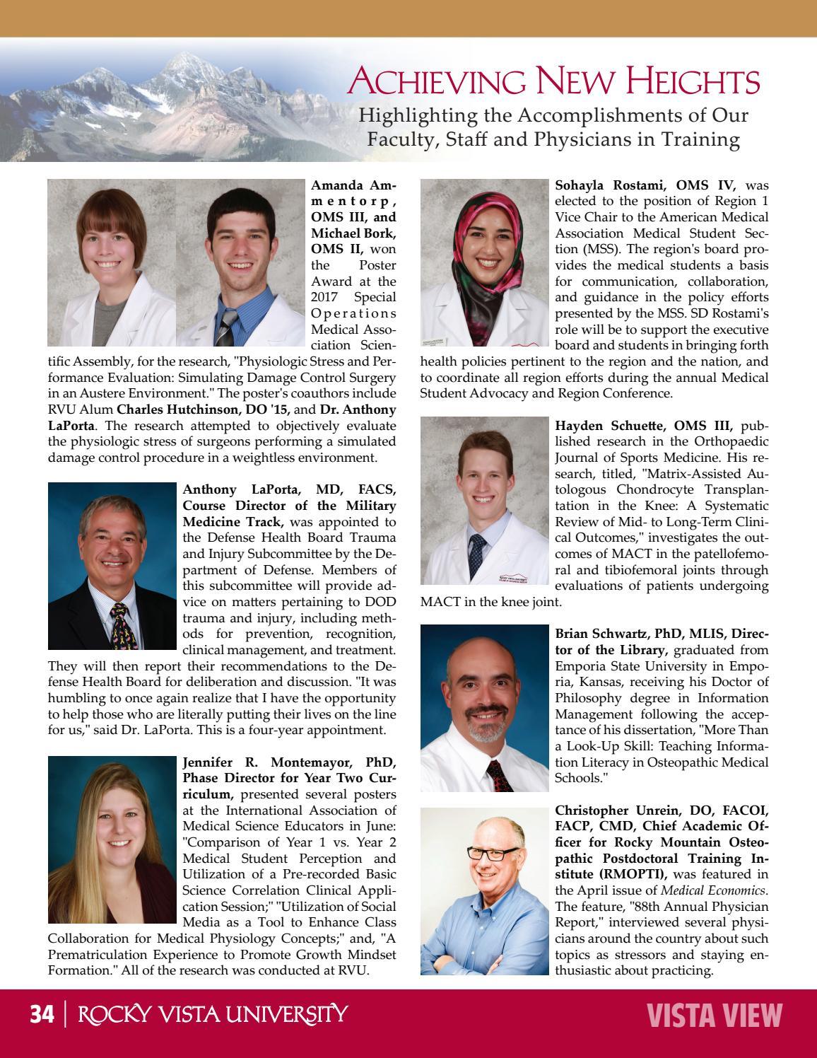 October 2017 Issue - Vista View by Rocky Vista University