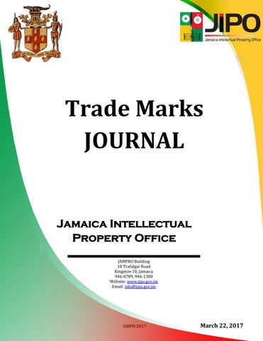 March 2017 TM JOurnal by Jamaica Intellectual Property