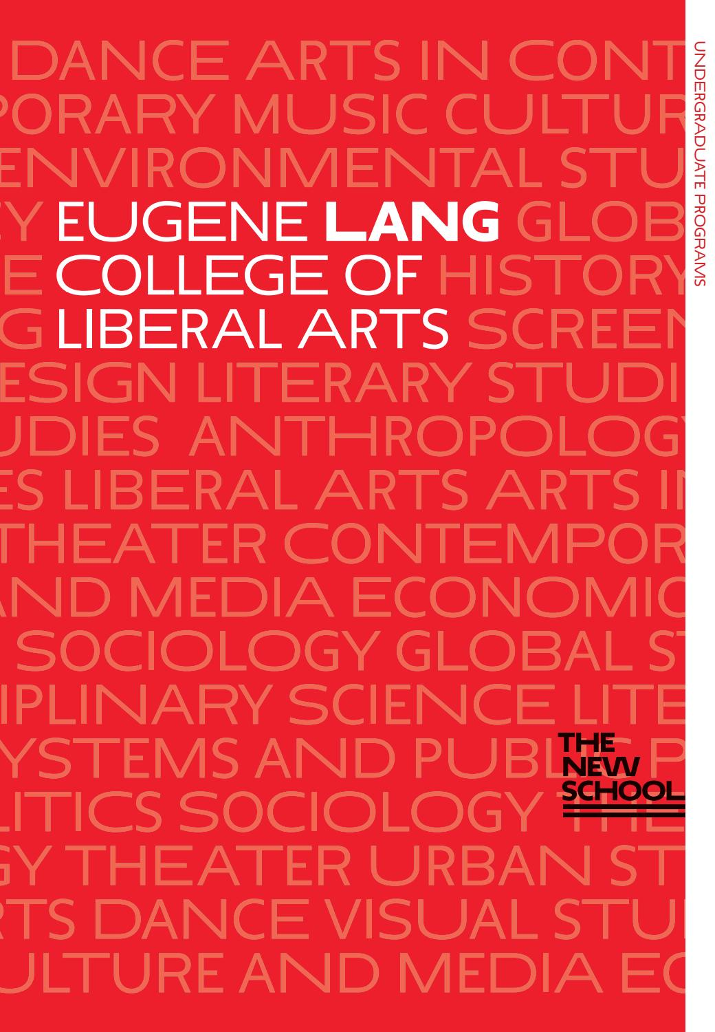 Eugene Lang College Of Liberal Arts By The New School Issuu