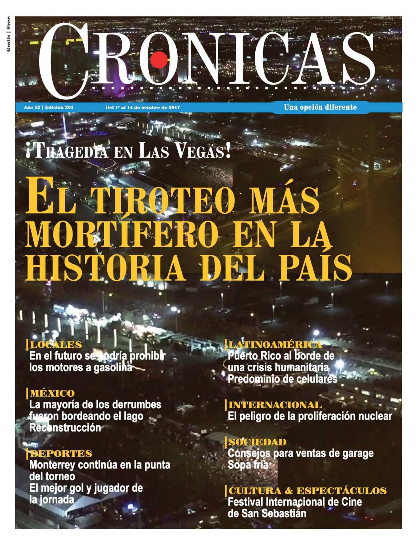 Edicion261-01deoctubrede2017 by CRONICAS Newspaper - issuu