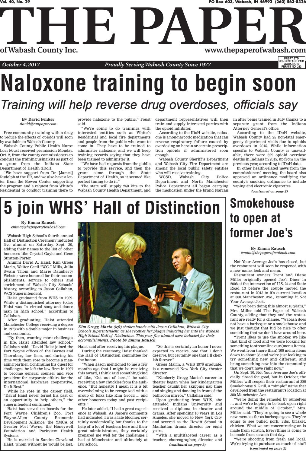 The Paper of Wabash County - Oct. 4, 2017, Issue by The Paper of ...
