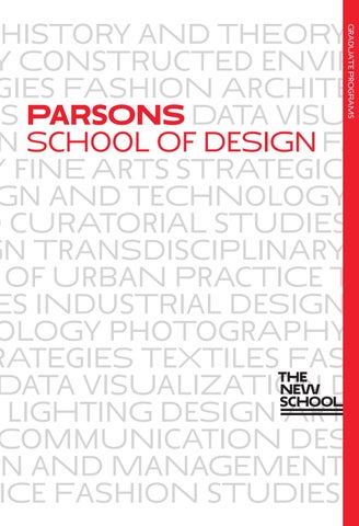 7622a38aa31d Parsons School of Design by The New School - issuu