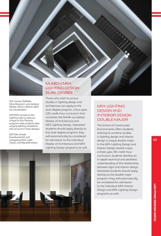 M.arch/MFA Lighting Design Dual Degree Those who wish to pursue TOP James Clotfelter & Parsons School of Design by The New School - issuu