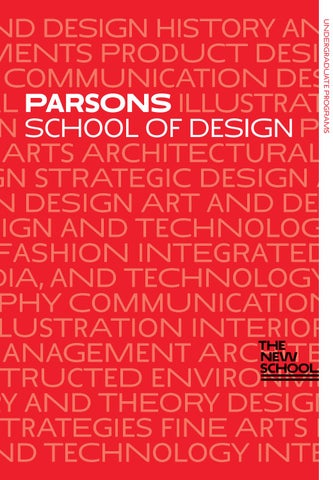 Parsons School Of Design By The New School Issuu