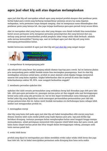agen jual obat klg asli atas dapatan meliaskan by