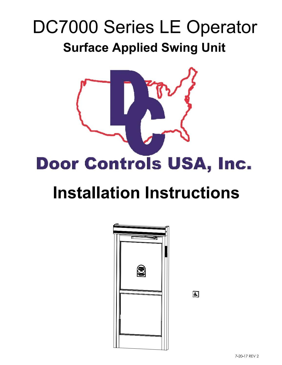 Dc7000 Installation Manual 72017 By Door Controls Usa Issuu Bea Maglock Wiring Diagram