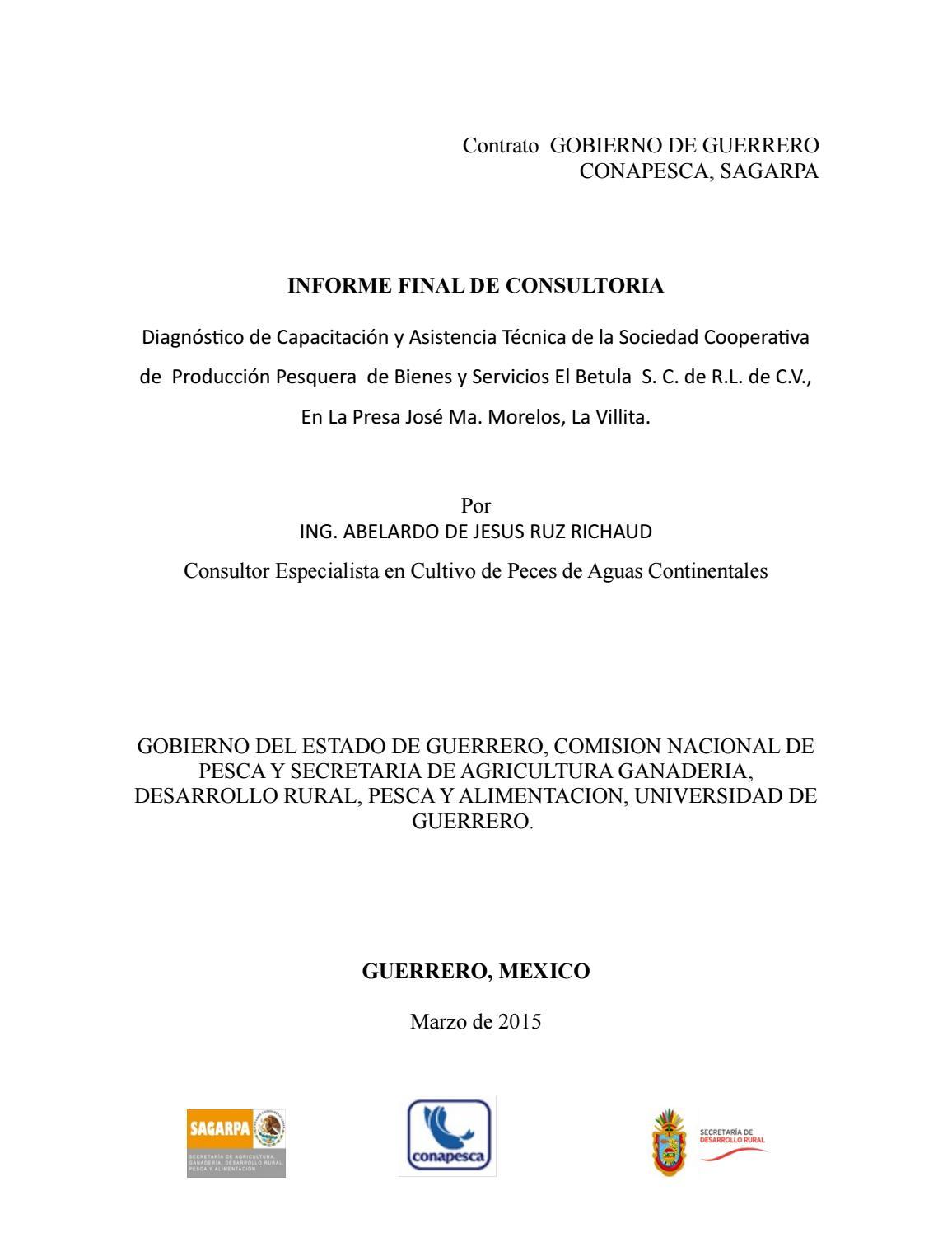 Manual cultivo de bagre el betula by AQUA QUE DE TAMAULIPAS - issuu