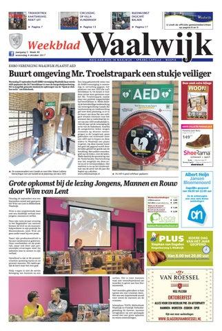 0e5b9d1453b399 Weekblad Waalwijk 04-10-2017 by Uitgeverij Em de Jong - issuu