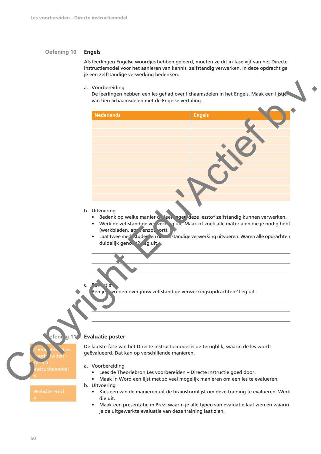 Hedendaags 40825 Instructies geven en lesvoorbereidingen by Uitgeverij Edu CM-04