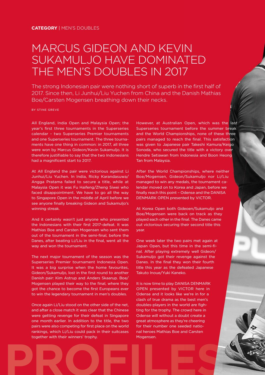89381c6d18b43 Badminton Magazine - DANISA DENMARK OPEN presented by VICTOR 2017 by ...