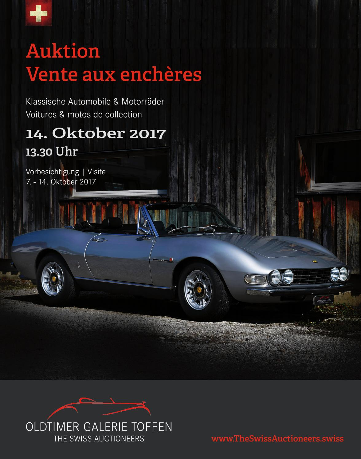 Catalogue October 14th 2017 By Oldtimer Galerie International GmbH