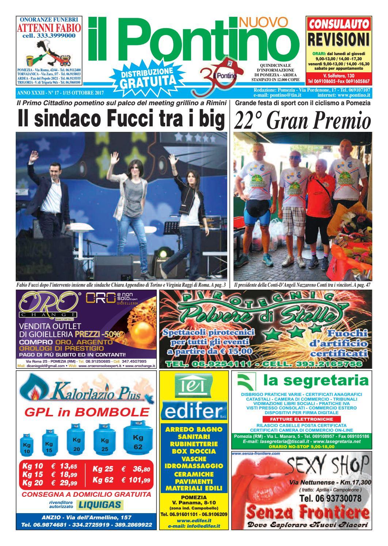 size 40 a9d4c f057b Il Pontino Nuovo - Anno XXXII - N. 17 - 1 15 Ottobre 2017 by Il Pontino Il  Litorale - issuu