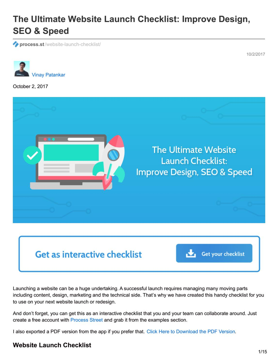 The Ultimate Website Launch Checklist: Improve Design, SEO