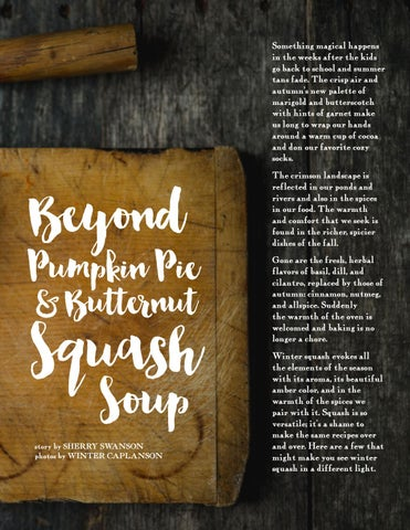 Page 7 of Beyond Pumpkin Pie & Butternut Squash Soup