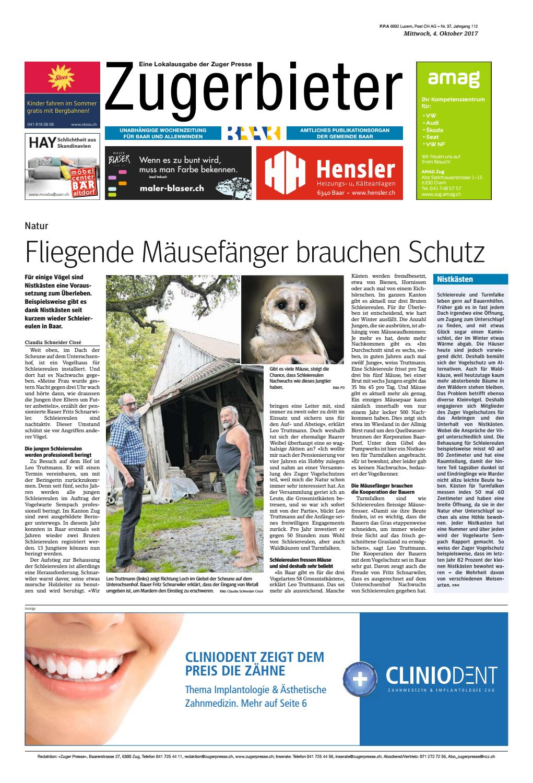 Zugerbieter 20171004 by Zuger Presse - Zugerbieter - issuu