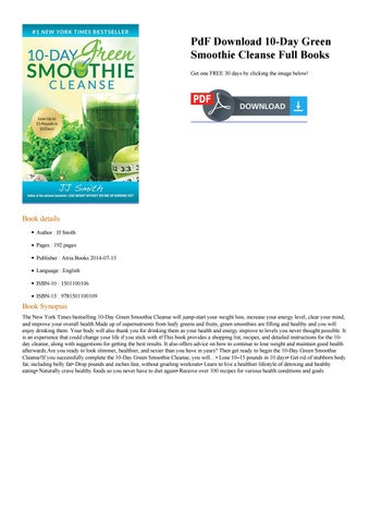Smith 10 day cleanse pdf jj green smoothie