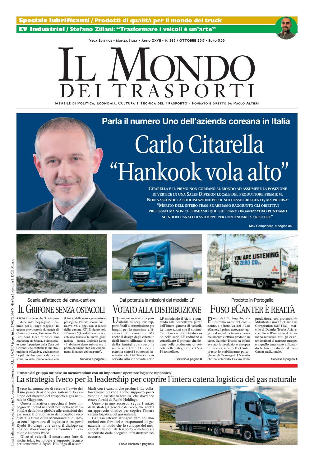 Il Mondo dei Trasporti - Ottobre 2017 by Vega Editrice - issuu 3de65a3ea47