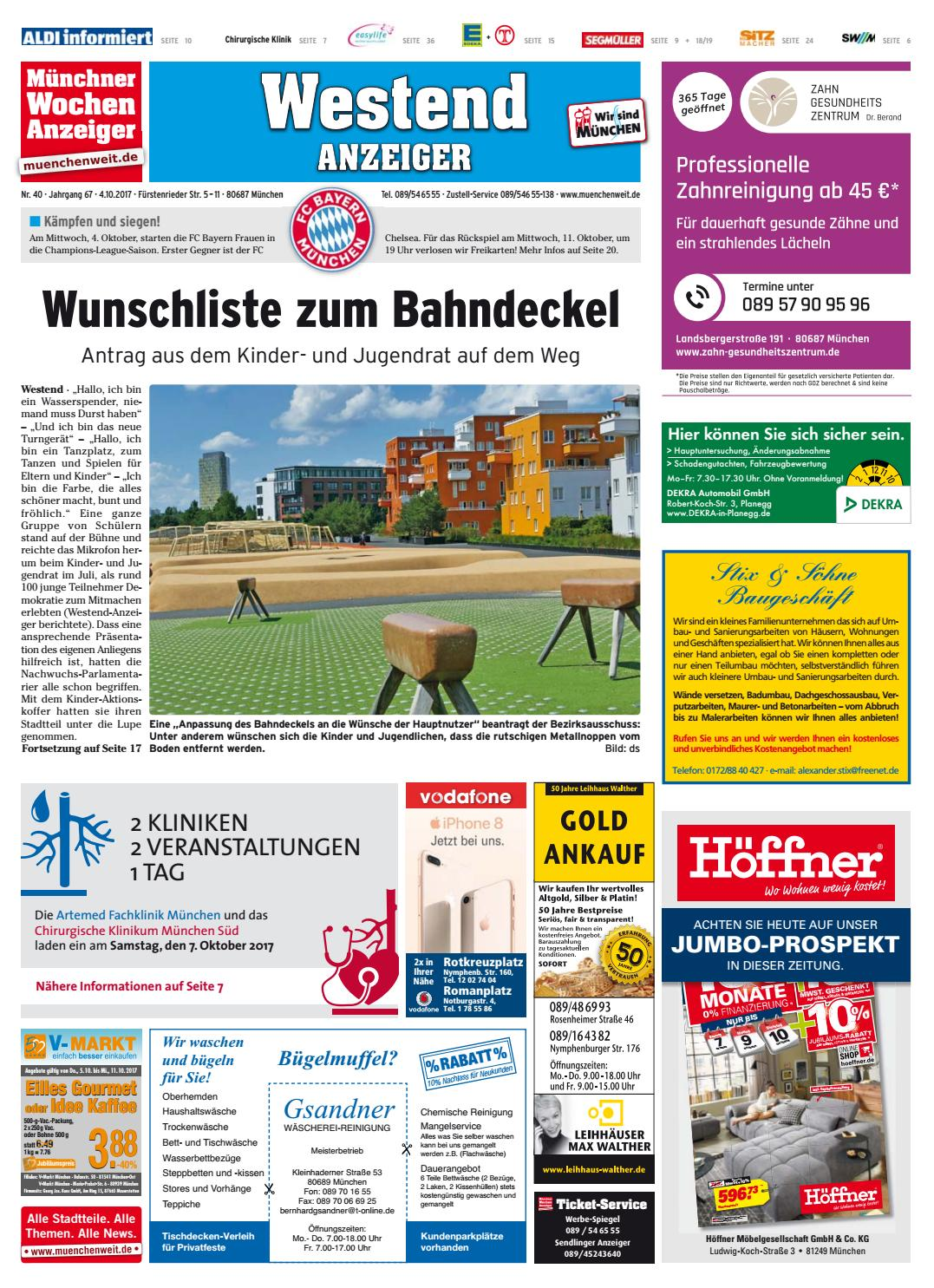 KW 40-2017 by Wochenanzeiger Medien GmbH - issuu