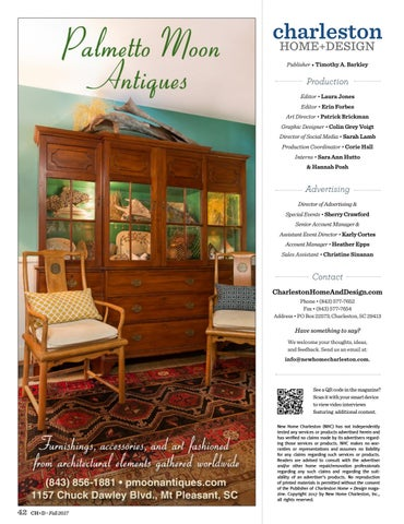 Charleston Home Design Magazine Fall 2017 By Charleston Home Design Magazine Issuu