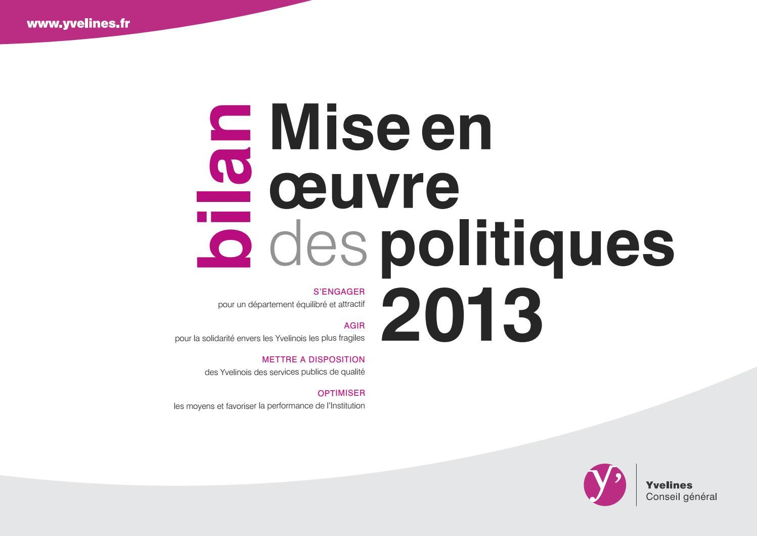 bilan mise en oeuvre des politiques 40 by Conseil départemental ...