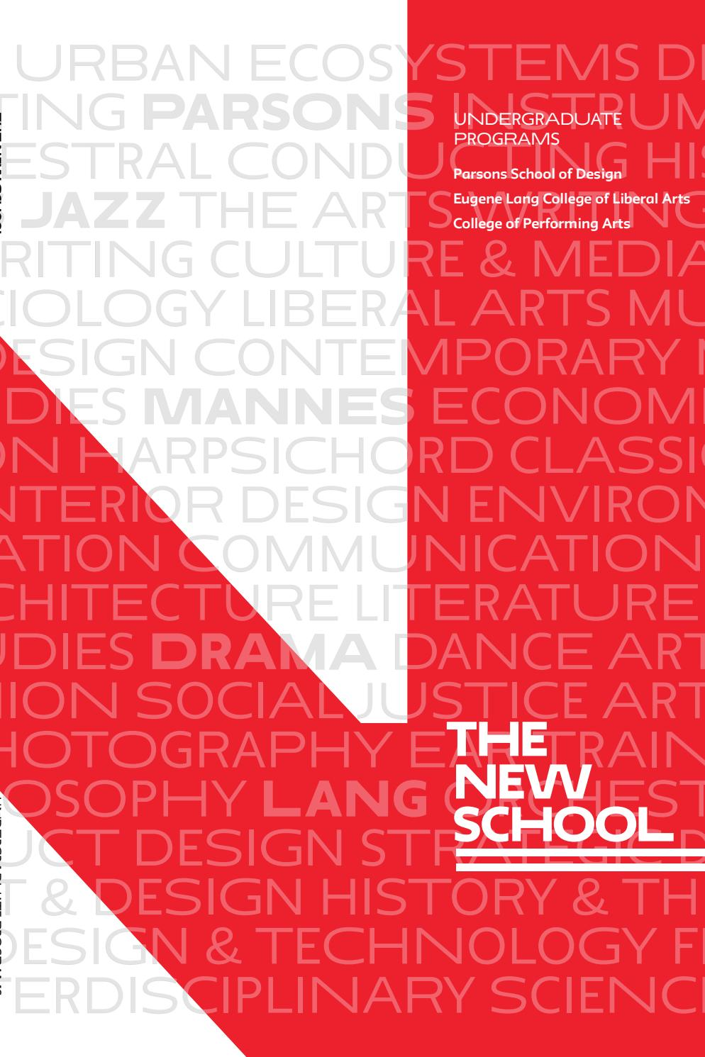Undergraduate Programs At The New School By The New School Issuu