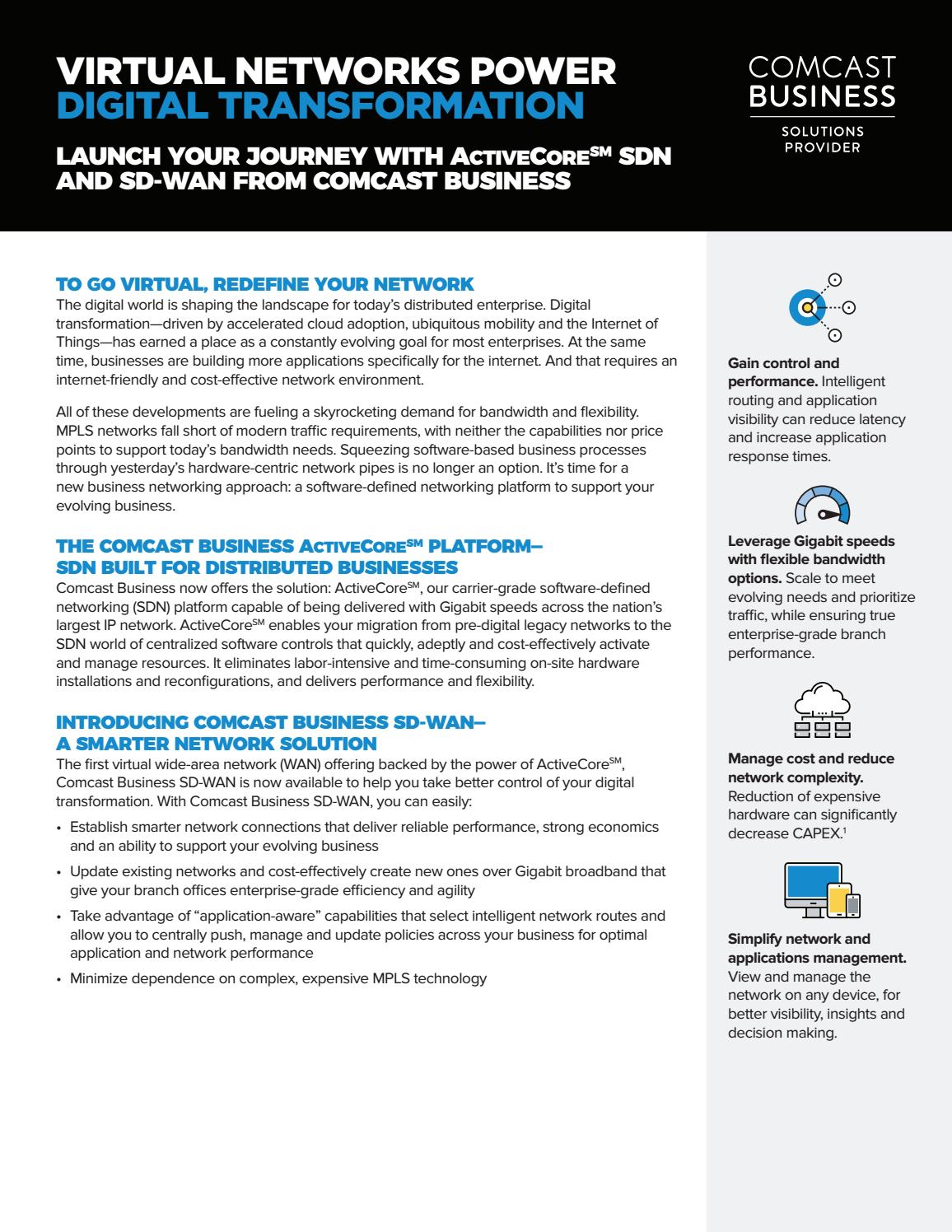 Comcast SD-WAN Sell Sheet by Brian Wade - issuu