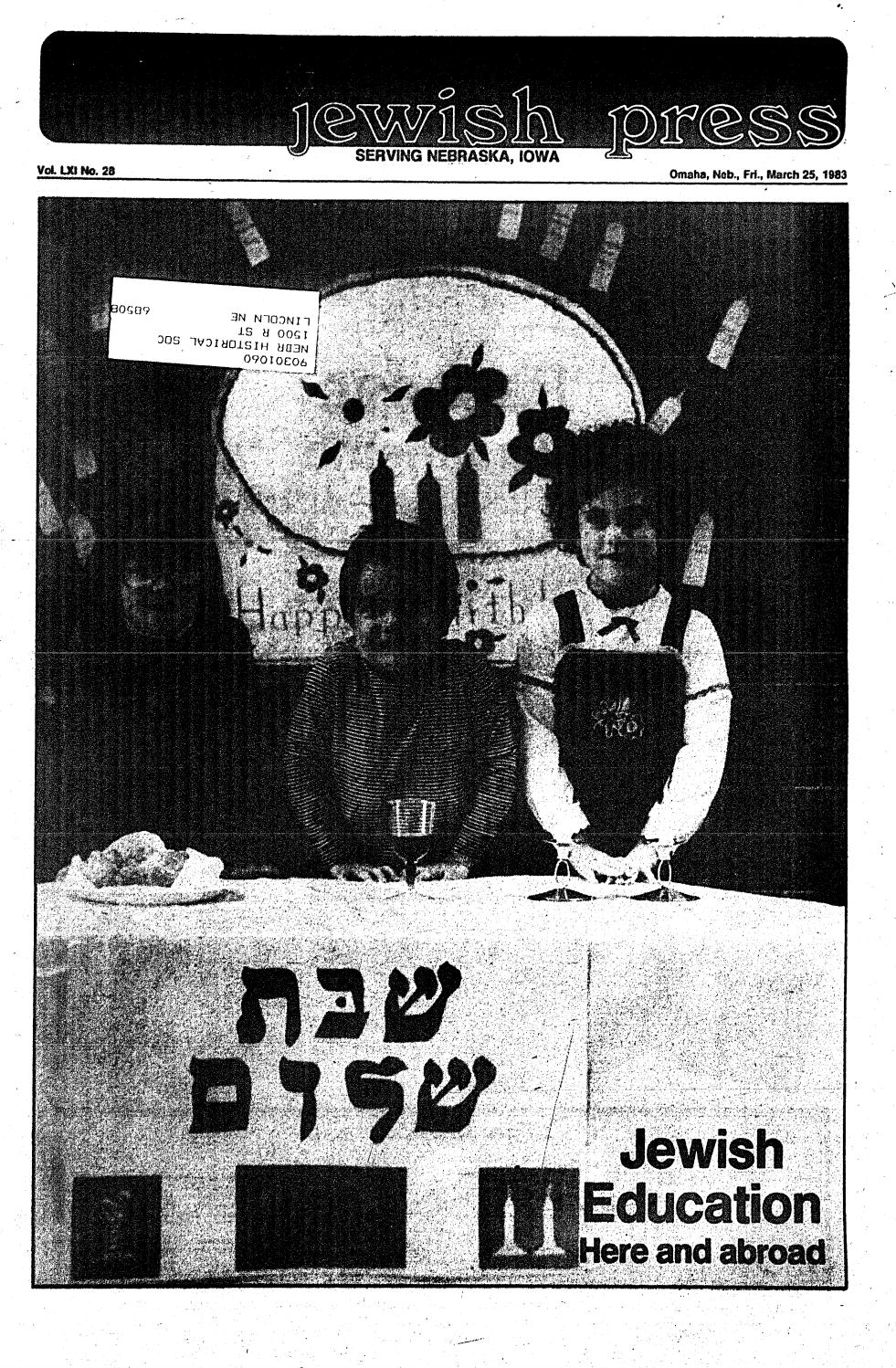 March 25, 1983: Passover Edition by Jewish Press - issuu