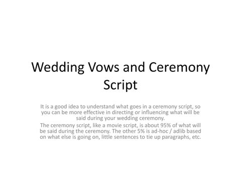 Wedding Vows And Ceremony Script By Fab Weddings Issuu