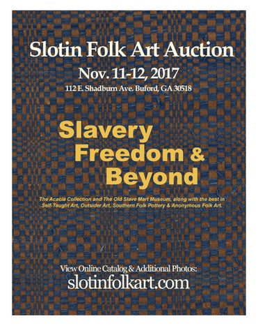 1a821750e0 Slotin Folk Art Auction Nov. 11-12