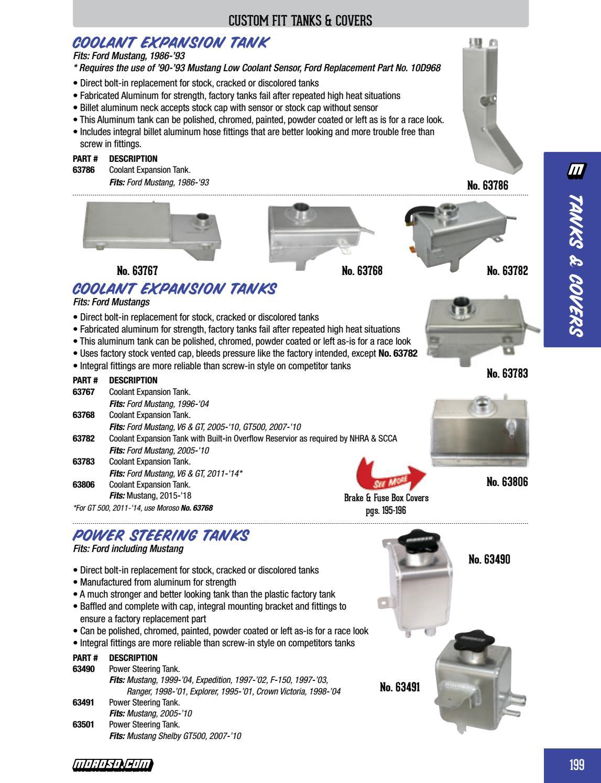 Moroso 63491 Power Steering Tank for Mustang