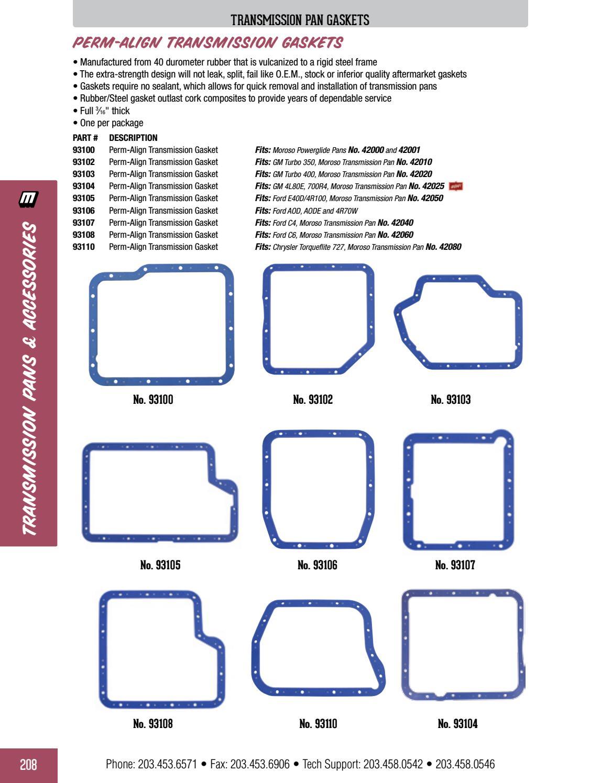 Moroso 93106 Perm-align Transmission Gasket for Ford AOD//AODE//4R70W