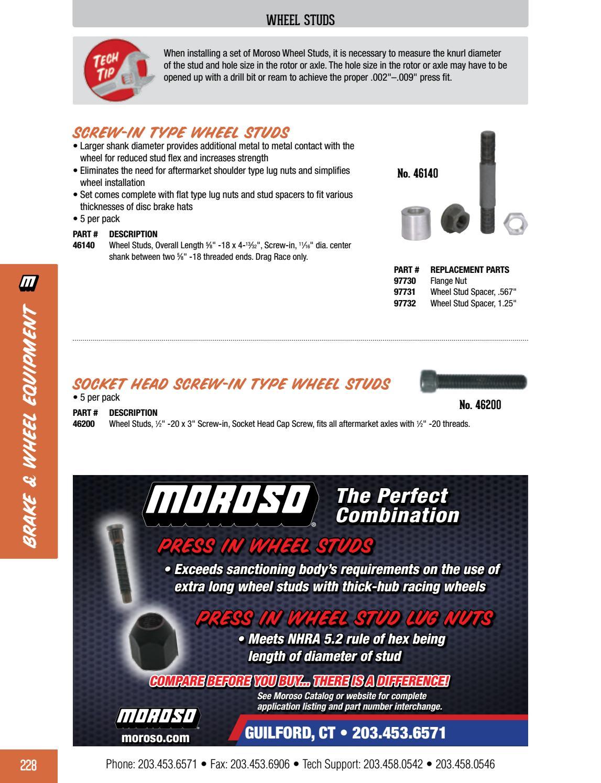 Moroso 97732 Wheel Stud Spacer
