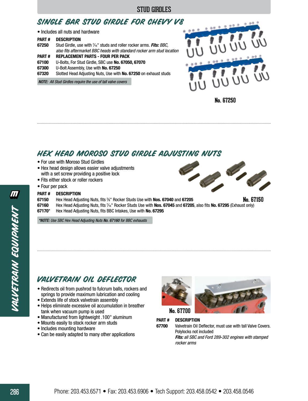 Moroso 67700 Valve Train Oil Deflector